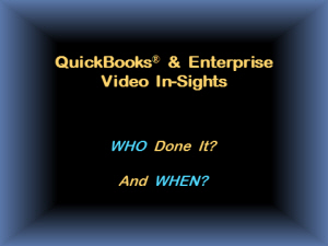 Video Insight:  Who Done It and When