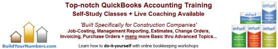 Learn more - QuickBooks Job Cost & Construction Accounting Training Workshops