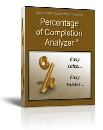 Percentage of Completion Calculations & Entries
