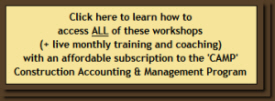 Learn how to access all of these workshops + live monthly QuickBooks coaching and training