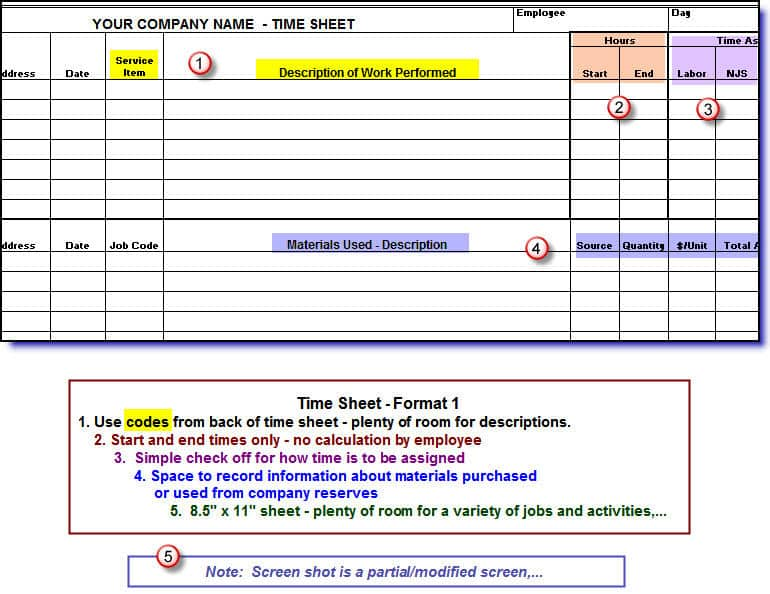 Timesheets For Construction Companies EnglishOnly Version