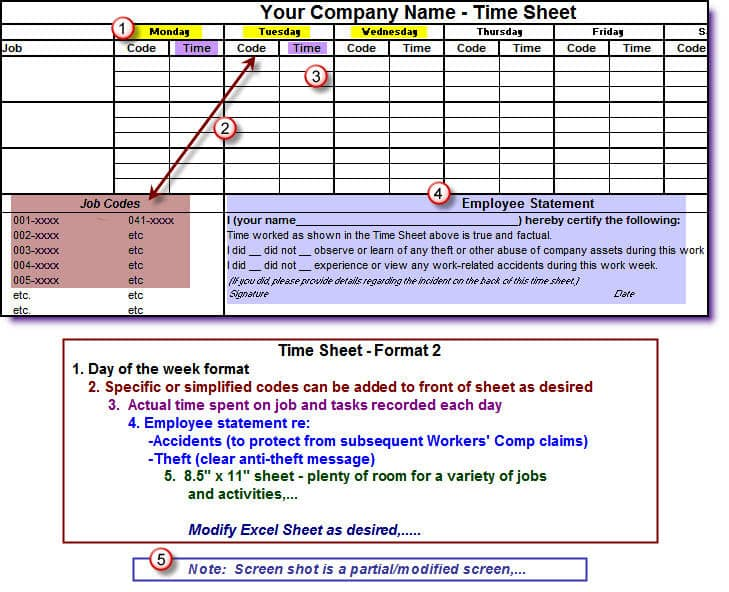 timesheets for construction companies english only version build