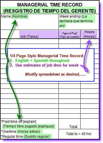 construction time sheets